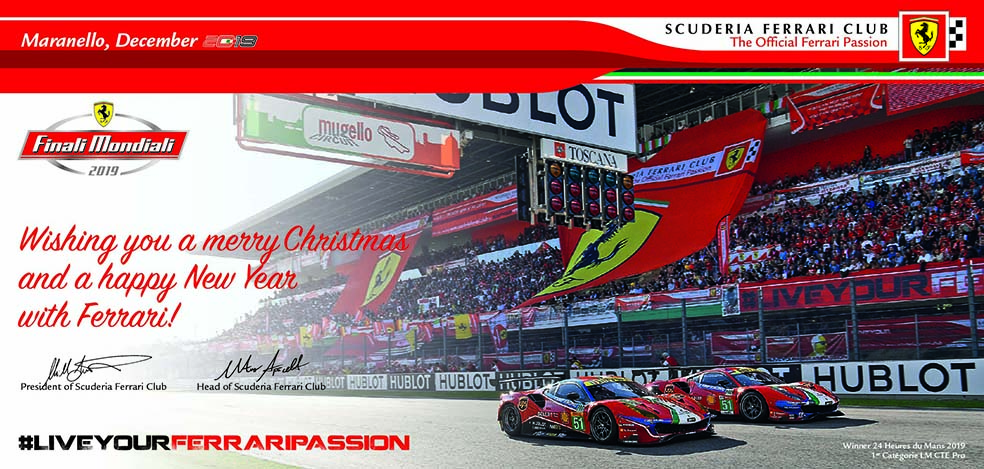 Christmas 2019 - SCUDERIA FERRARI Club wishes Ferrari FANS