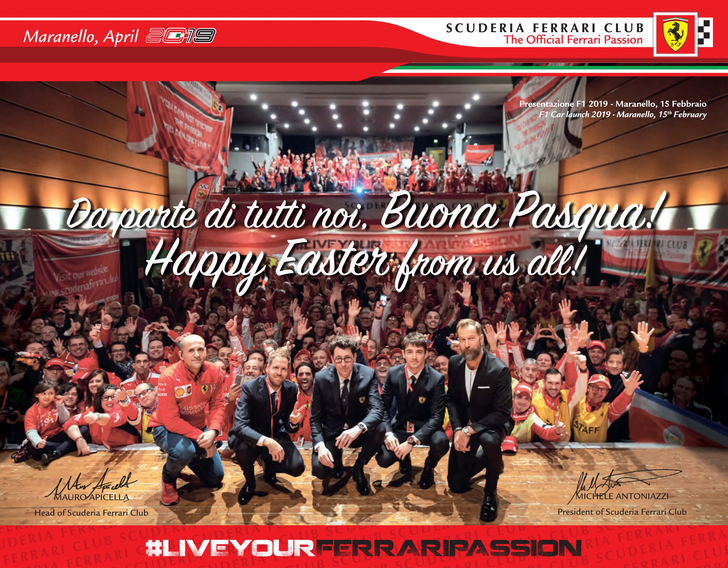 Happy EASTER 2019 to Scuderia Ferrari Club