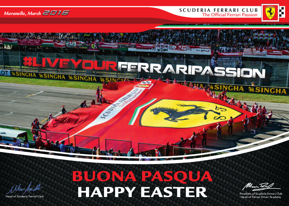 Scuderia Ferrari Club - HAPPY EASTER 2016